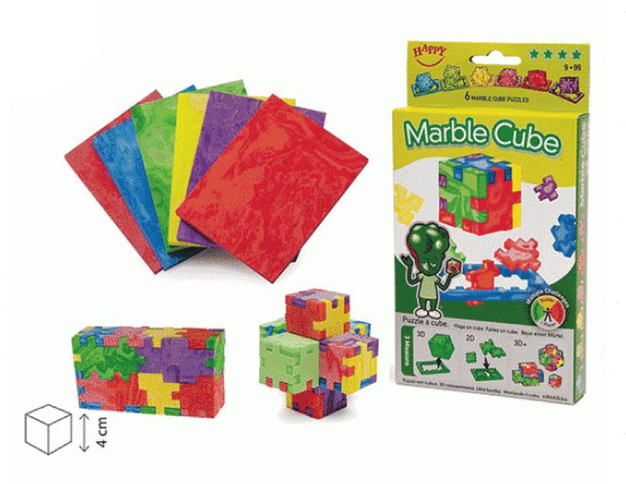 Marble - Happy Cube - 3D - 6 paket
