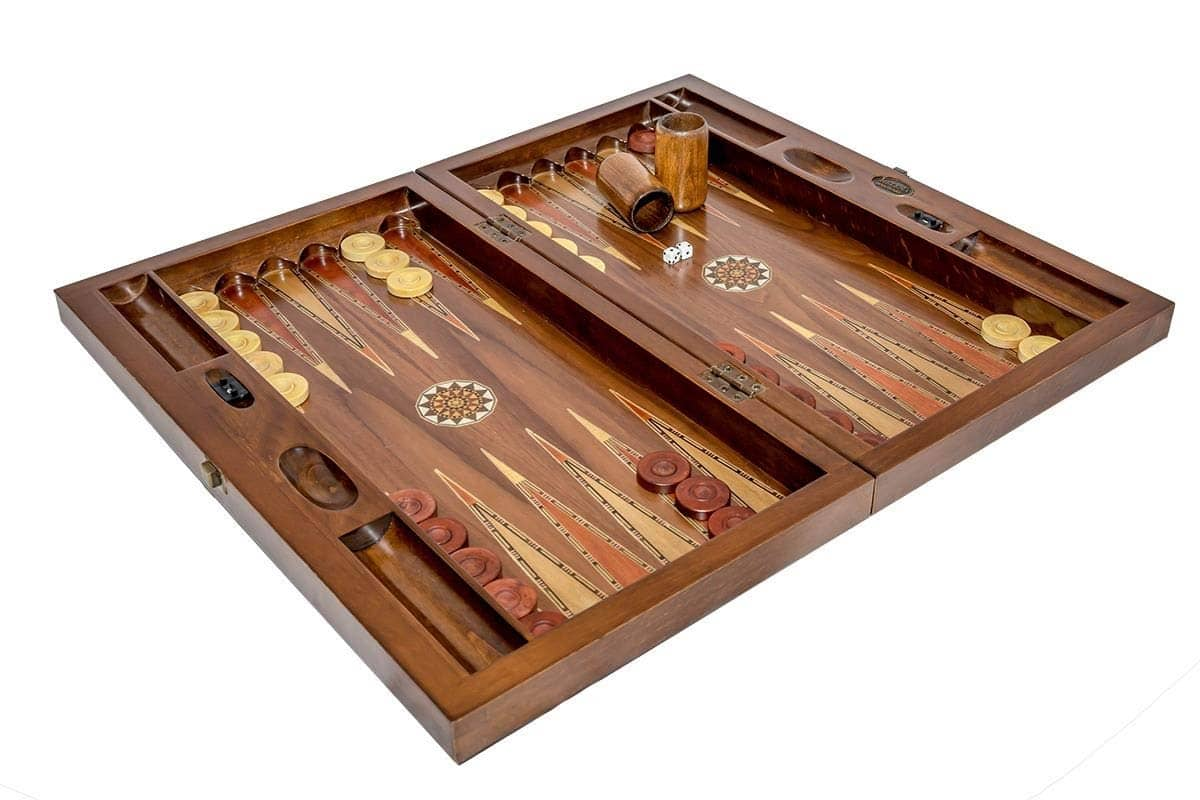 Backgammon garnitura<br>mozaik, oreh