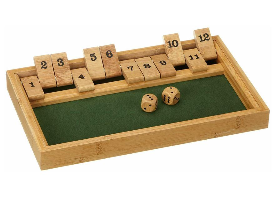 Igra Shut the box<br>bambus